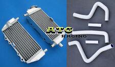 For Kawasaki KX125 1994-2002 / KX250 1994-2002 Aluminum Radiator+ hose WHITE