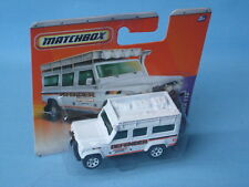 Matchbox Land Rover 110 Defender blanc safari 4x4 off road jouet voiture modèle 70 mm