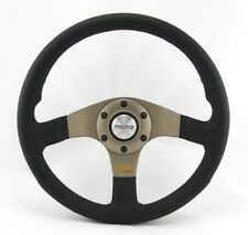 Momo Leather Sports Steering Wheel Tuner Silver 32 12 19/32in Black Anthracite