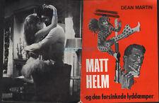 MURDERER'S ROW DEAN MARTIN AS MATT HELM ORIGNAL 1966 DANISH MOVIE PROGRAM