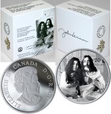 2019 Give Peace a Chance $20 1OZ Silver Proof Coin Canada, Yoko Ono, John Lennon