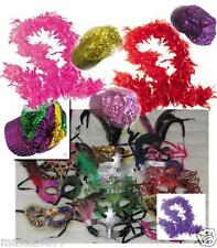 NEW MARDI GRAS masquerade party favors mask boas hats MASKS LOT of 100