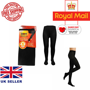 Ladies Womens Winter Warming Fleece Lined Thick Thermal Full Foot Tights S-XXL