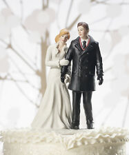 Winter Wonderland Romantic Couple Wedding Cake Topper