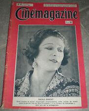 CINEMAGAZINE n°14 Nicole Robert  HUGUETTE DUFLOS Albert Dieudonne NAPOLEON  1926