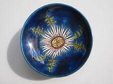 Schale Hindelanger Keramik blau Blumenmotiv Distel