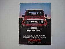 advertising Pubblicità 1988 TOYOTA BJ 73 TD TURBO DIESEL