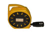Multi-Outlet Manual Wind-Up Extension Cord Reel GFCI Alert Stamping 6000-20G-GF