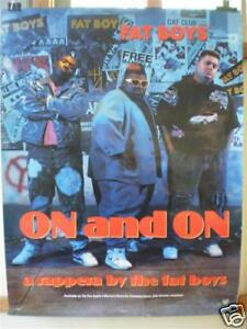 """THE FAT BOYS - 1989 - ORIGINAL AUSTRALIAN PROMO POSTER - """"ON AND ON"""""""
