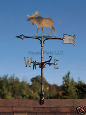 "30"" Moose Colored Garden Mount Weathervane Cabin Lodge"