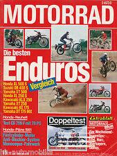 Motorrad 15 80 Benelli 654 RM125T Laverda V6 Suzuki GS850G Yamaha XT500DT 1980