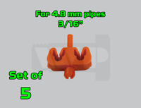 Set of 2 Brake Line Pipe Inline Connector Coupler no flare 6.0mm