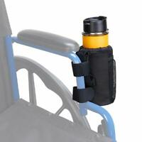 Mobile Beverage Bottle Drink Cup Holder Storage Pockets Universal for Wheelchair