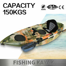 Fishing Kayak Sit-On Kayak Canoe Holders Padded Seat Paddle Sale Ocean Sea