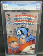 Captain America #v2 #8 (1997) Bennet & Lee Cover CGC 9.8 White Pages Y618