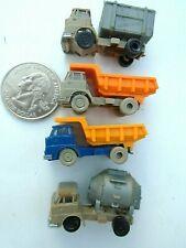 (4) N scale Dump Trucks & Rubbish Hauler plastic trucks-Germany