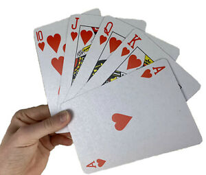 Adults and Seniors with low vision Card Deck measures 4x6 Inch Giant Playing Cards are Great for Kids Jumbo Playing Cards Piggy in the Middle