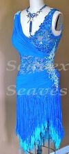 U3497 women ballroom chacha Latin samba salsa dance dress fringing Custom made