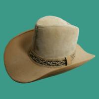 Resistol Self-Conforming Tan Camel Suede Leather 1970's Hat Size 7 Excellent