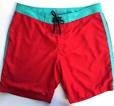 Old Navy Men's Swim Trunks Board Shorts Bathing Suit XXL Red Aqua