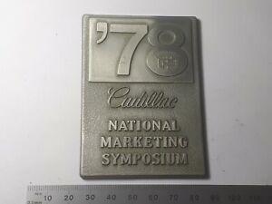 Cadillac - National Marketing Symposium medal 1978