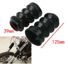39mm Front Fork Rubber Gator Gaiters Boots Covers For Harley XL883 Sporster 1200