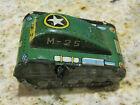 Line-mar Superman Green Tank M-25 Marx Tin Wind Up Toy Japan NO SUPERMAN