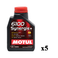5 Litri LT Olio Motore Auto Motul 6100 Synergie+ 10W40 ACEA A3/B4