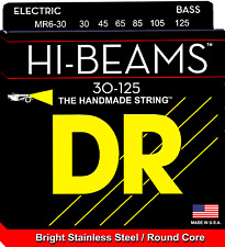 DR Strings MR6-30 HI-BEAM Stainless Steel Bass Guitar Strings, Round Core - Medi