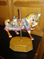 rare vintage armored carousel horse music box