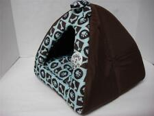 """40cm Puppy Dog Cat Kitty Pet Bed Cushion Tent Condo house Cute Brown/Blue 15x15"""""""