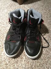 Air Jordan Mens Black Red Leather SC-1 Basketball Shoes SZ 12 I538698-020 Bball