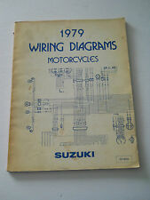 SUZUKI 1979 WIRING DIAGRAMS MOTORCYCLES  MANUAL FZ GT GS RM TS etc...