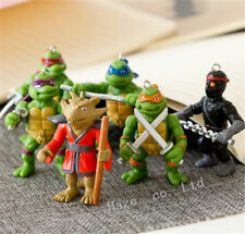 6Pcs/Set Teenage Mutant Ninja Turtles Pvc 2''/5Cm Figure Keyring Pendant Toys