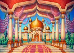 7x5ft Aladdin arab Arabian Palace Castle Pillars Hall backdrops party Background