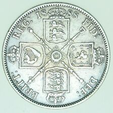 More details for 1888 victoria jubilee head florin, british silver coin vf