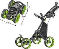 NEW CaddyTek Explorer V8 - SuperLite 4 Wheel Golf Push Cart
