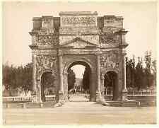 France, L'Arc de Triomphe d'Orange vintage albumen print.  Tirage al