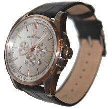 Pierre Petit Le Mans Herren 42mm Chronograph Leder Armband Uhr P-786B NEW