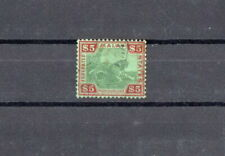 MALAYA FMS 1934 $5 green & red/green very fine used copy