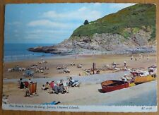 Postcard - The Beach, Greve-de-Lecq, Jersey (Posted 1970)