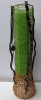Lampe sur Pied Cylindrique En Vegetal et le Tissu Couleur Verte CM 100x24