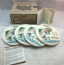 New. American Expeditions stone coasters. RAINBOW TROUT