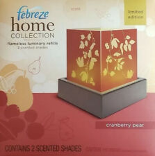 Febreze Home Collection Cranberry Pear Flameless Luminary Refill 2 Scent Shades