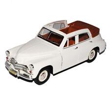 GAZ M20 Pobeda Cabrio Weiss 1/24 Yatming Modell Auto mit oder ohne individiuelle