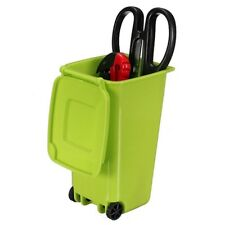 Mini Wheelie Bin Novelty Desk Tidy Desktop Stationery Organiser Pen Pot Hol C9j7 Green