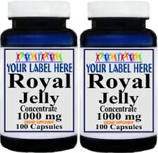 2 BOTTLES ROYAL JELLY CONCENTRATE 1000MG IMMUNE DIETARY SUPPLEMENT 200 CAPSULES