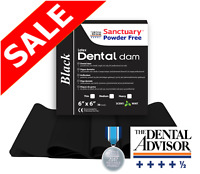 BLACK Sanctuary Latex Dental Dam Rubber 6X6 Medium Mint 36/PK SHEET HIGH QUALITY