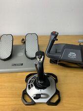 CH Products Flight SIM Yoke FSY211U CH Products USB Pro Pedals PPU995 & Logitech