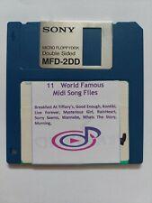 11 X World Famous MIDI Songs Files on  3.5 2DD Floppy Disk